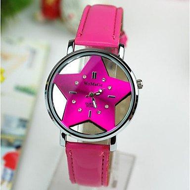 Estupendo reloj transparente con forma de estrella. Opción de colores.