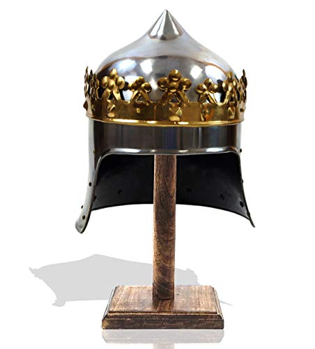 Antique Replica 13Th Century King Robert The Bruce Medieval Armor Display Helmet 18ga Steel Templar