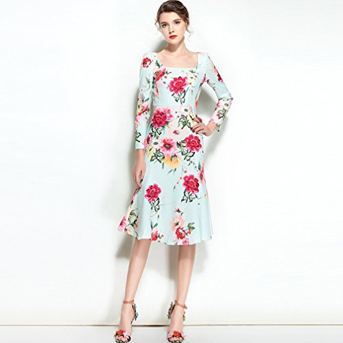 Con Dresses Sleeve Body Long Dress Women`s cotyledon Embroidery Mermaid wUxvq6UY