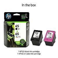 HP 65   2 Ink Cartridges   Black, Tri-color   N9K01AN, N9K02AN