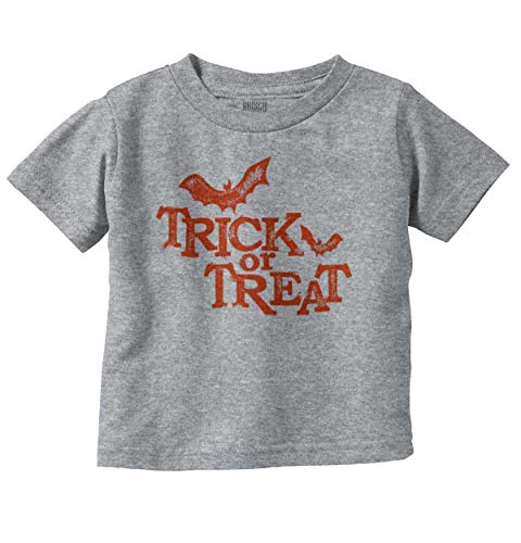 Brisco Brands Trick Or Treat Funny Bats Halloween Scary Infant Toddler T Shirt -
