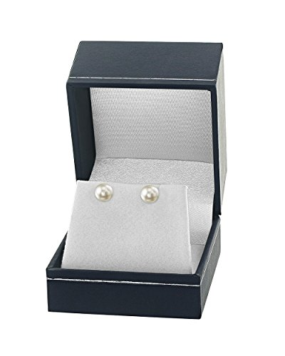 18K Gold 7.5-8.0mm White Akoya Cultured Pearl Stud Earrings - AA+ Quality by The Pearl Source (Image #2)
