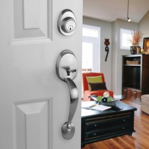 Dynasty Hardwre COL-HER-100-15L Colorado Front Door Handleset with Heritage Lever Left Hand Satin Nickel Dynasty Hardware