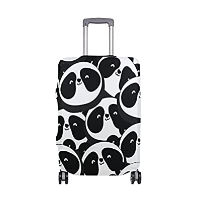 ALAZA Black And White Panda Elastic Travel Suitcase Protector Luggage Cover Print Design Fit 18-20 Inch S(COVER ONLY) 80%OFF