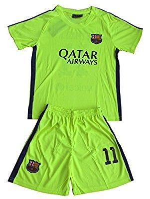 61198e1b3 Buy Roots4creation Replica Barcelona Football Jersey Set - LimeGreen ...