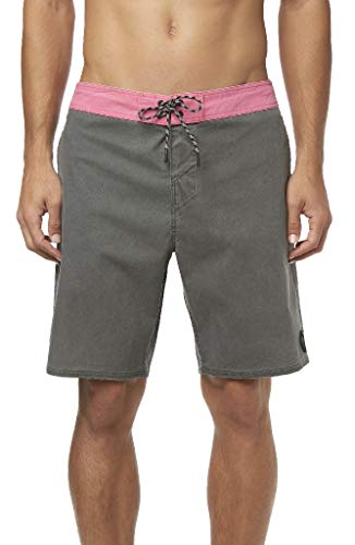 O'Neill Men's Water Resistant Stretch Volley Swim Boardshort, 19 Inch Outseam (Graphite/Faded, ()