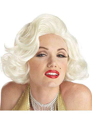 California Costumes Women's Classic Marilyn Monroe Wig, Platinum Blonde, One Size
