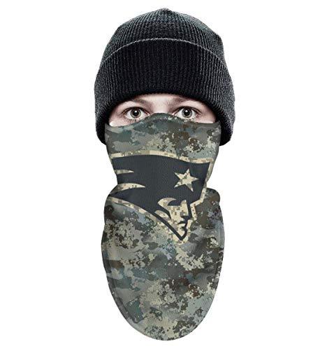 RHARAD Half Balaclava Fleece Winter Warm Camouflage Camo Motorcycle Face Mask for Mens Womens (New England Patriots Yoga Mat)