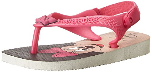 Havaianas Baby Disney Classics Thong Sandal (Toddler), White/Rose, 19 BR(5 M US Toddler) Toddler Classic Sandal