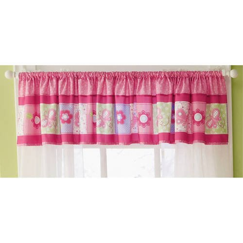 Carters Child of Mine Girl Pink Butterfly Blossoms Window Nursery Valance ()