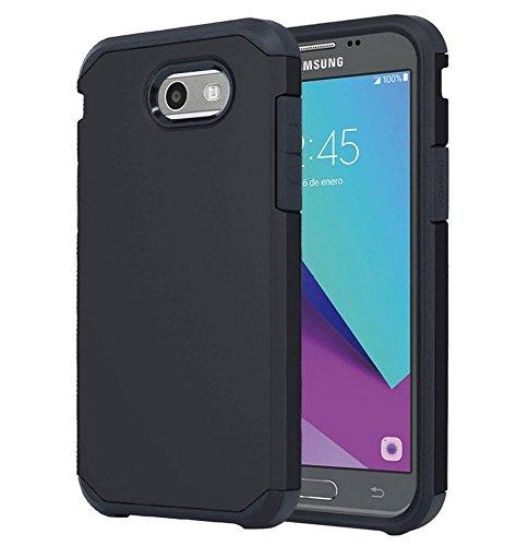 For Samsung Galaxy J3 Emerge / J3 Prime / J3 Mission / J3 Eclipse / J3 2017 / J3 Luna Pro / Sol 2 / Amp Prime 2 / Express Prime 2 Case, OEAGO Shockproof Drop Protection Rugged Armor Case Cover (Black)