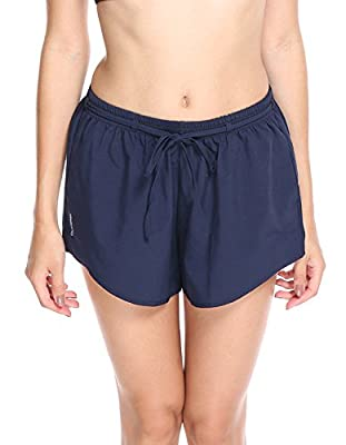 OVESPORT Women's Active Shorts Summer Running Drawstring Elastic Waist Casual Lounge Shorts