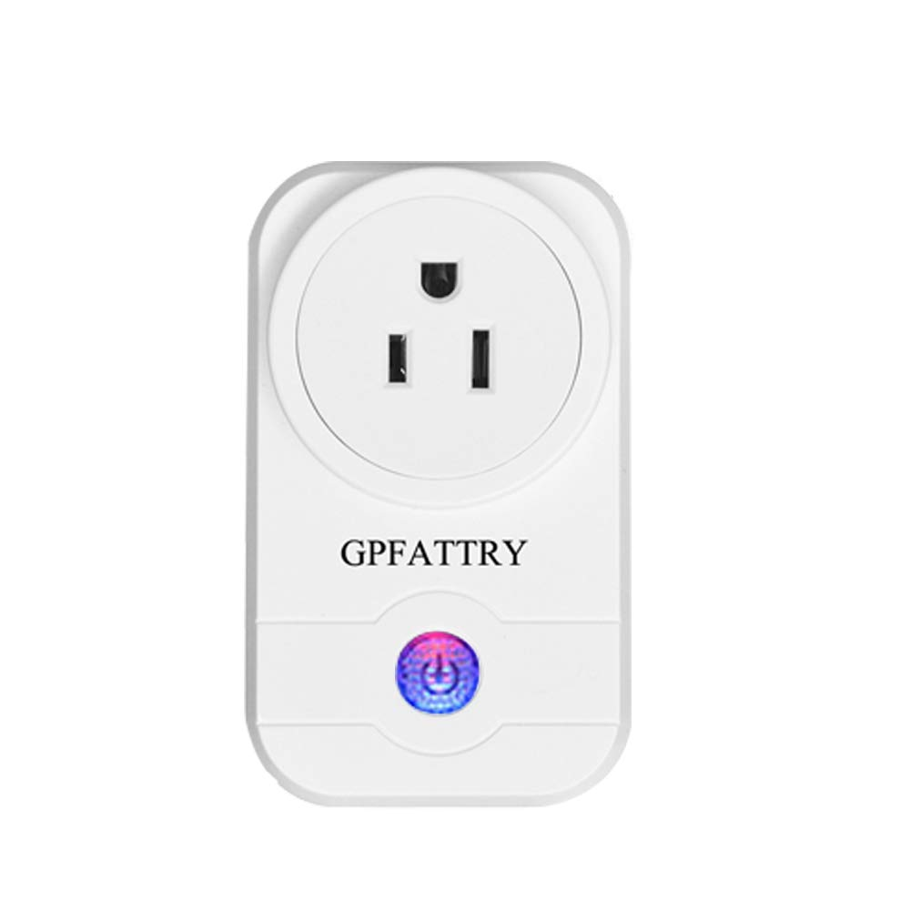 Smart Plug Mini Wireless Switch Socket Wifi Outlet Remote Control Turn ON/OFF Electonic Anywhere with Smart Phone Timing Function Work With Amazon Alexa Google Home No Hub Required GPFATTRY (1PCS)
