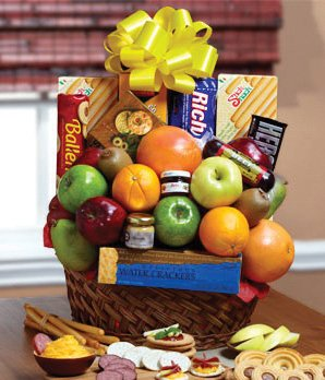 Fruits and Sweets Basket - Same Day Dried Fruit Basket Delivery - Dried Fruit Gifts - Best Dried Fruit Tray- Mixed Dried Fruit - Dried Fruit and Nut Gift Baskets (Fruit Flower Delivery)