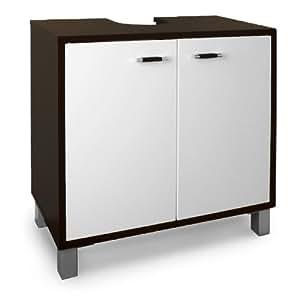 Armario para debajo del lavabo 2 puertas 60 x 30 x 56 cm for Mueble debajo del lavabo