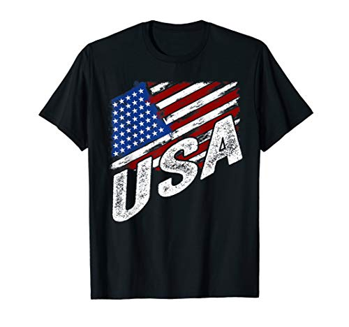 4th of July USA American Flag T-Shirt United States Gifts