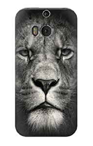 S1352 Lion Face Case Cover For HTC ONE M8