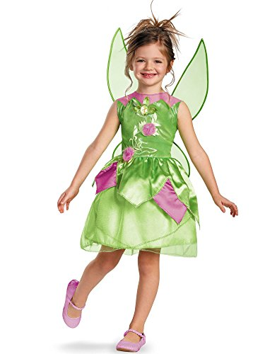 Disney Fairies Tinker Bell Classic Girls Costume, 3T-4T]()