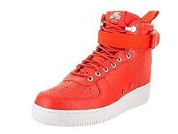 Nike Men's Sf Af1 Mid Team Orangeteam Orange Basketball Shoe 8.5 Men Us