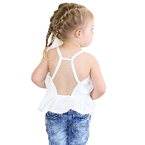 Weixinbuy Toddler Sleeveless Backless Cami Shirts
