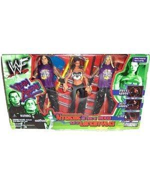 WWF Wrestling Action Figure 3Pack Team Xtreme Lita, Matt Jeff Hardy by Jakks Pacific by Jakks