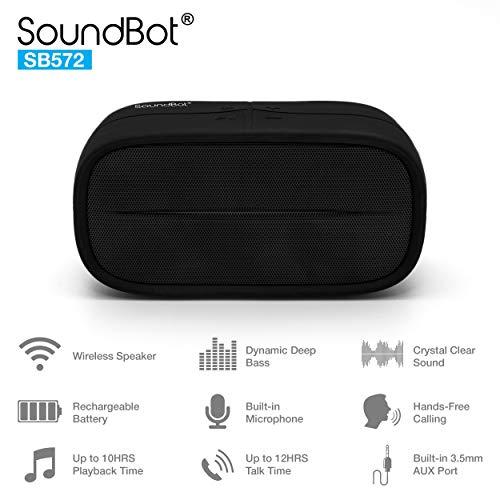SoundBot SB572 Bluetooth 4.1 Wireless Speaker for 8hrs Music