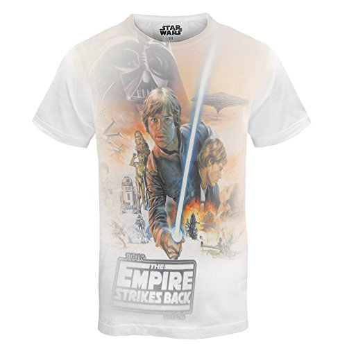 Star Wars Official Luke Skywalker Mens Sublimation T-Shirt Orange Large