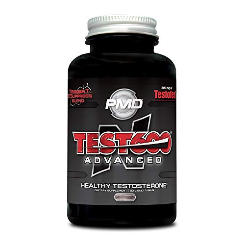 PMD Sports N-Test 600 Advanced Strong and Powerful Testosterone Booster with Testofen – Training and Bodybuilding – Lean Muscle Growth and Strength Gains – 90 Liquid T-Gels