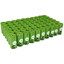 PET N PET 1080 Counts Large Green Dog Waste Bags Unscented 60 Rolls Doggie Refill Bags