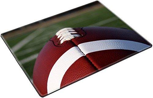 MSD Place Mat Non-Slip Natural Rubber Desk Pads design 23756463 American Football with yard lines in distance