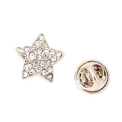 Gemstone Star Brooch (pin badge Star brooches for men and women the stud collar-pin San Antonio horses for diamond-B)