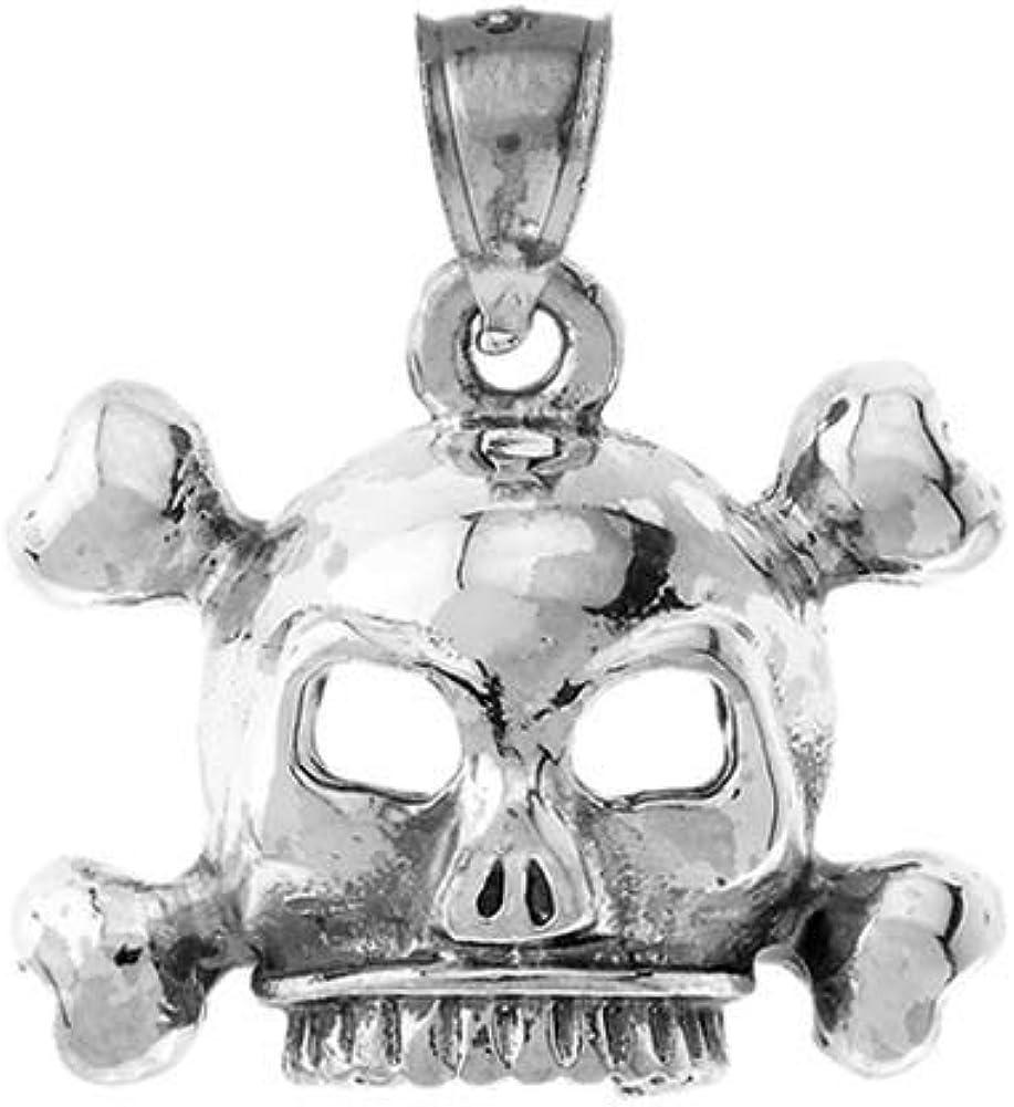 Antiqued Brass Vintage Design Large Skull and Crossbones Made in the USA
