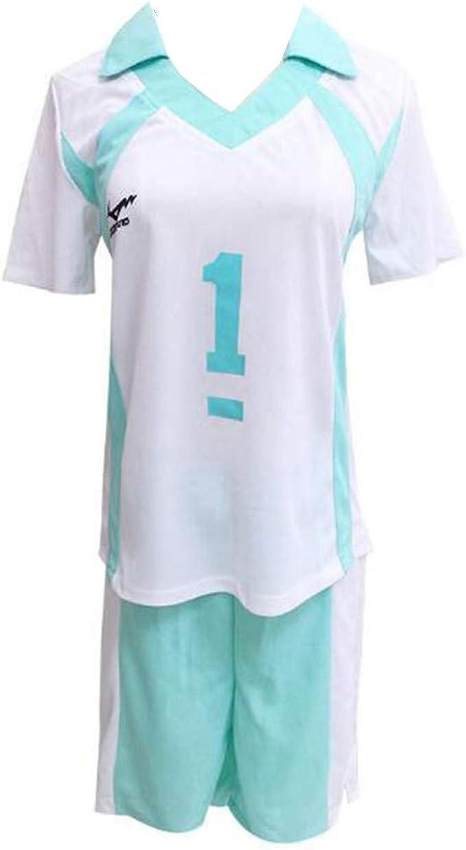 Oikawa Tooru Haikyuu Aoba Johsai High School Uniform Jersey NO.1 Cosplay Costume