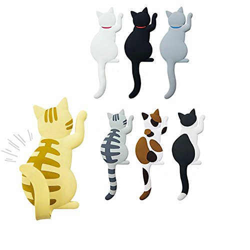 Mike Home Cute Cat Refrigerator Magnetics Use for Office Magnets Perfect Animal Lover Gifts Set of 7
