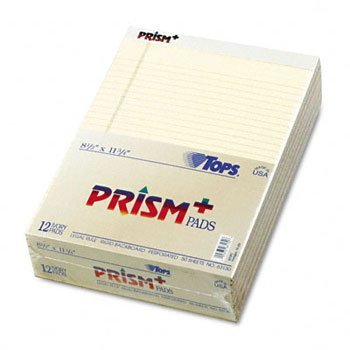 TOPS® Prism™ + Colored Writing Pads PAD,LGL RLD,LTR,12/PK,IY (Pack of3) by Tops