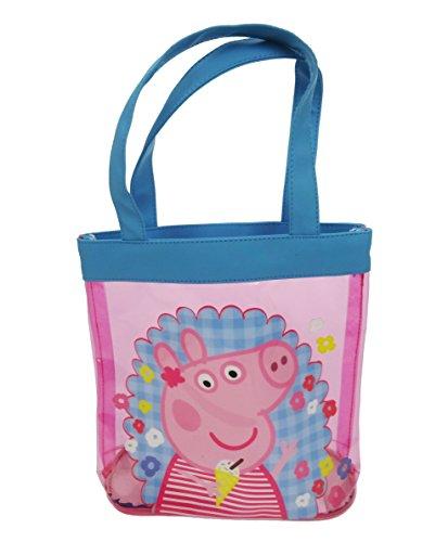 Peppa Pig Bolsa de tela y de playa, rosa (Rosa) - PEPPA001372