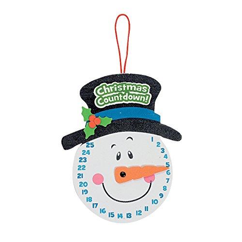 Make Christmas Crafts - Snowman Christmas Countdown Sign Craft Kit - Makes 12