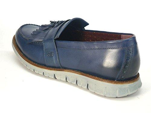 Marine Légère Brogues Pour En Flexibles Londres Chaussures Mocassin Bleu Gatz Hommes Cuir nwYZg6d0xg