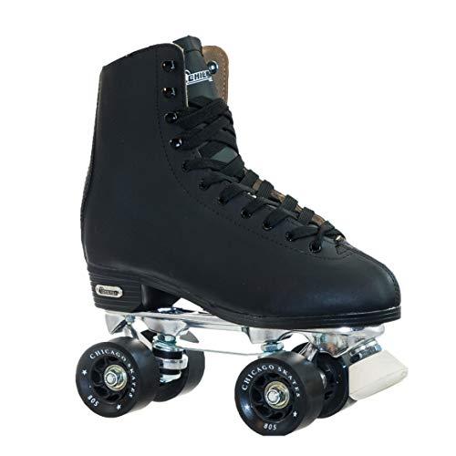 Chicago Men's Leather Lined Rink Roller Skate (Size 5), Black ()
