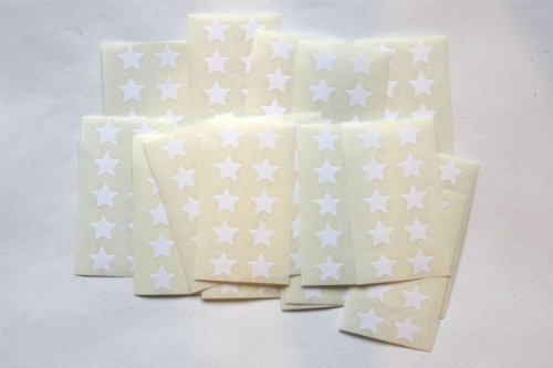Stevestickers 175 Star Stickers - Sticky Coloured Self Adhesive Labels For Colour Coding White Coloured Self Adhesive Labels