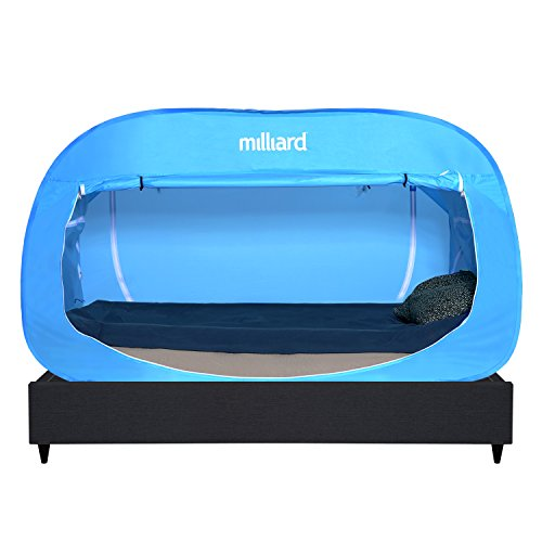Price comparison product image Milliard Bed Bubble Folding Privacy Tent – Twin-Size (78½ x 39½ x 47½in.) – Blue