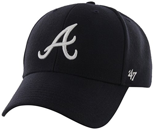 MLB Atlanta Braves Juke MVP Adjustable Hat, Navy-Road, One Size