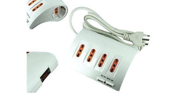Regleta de mesa con conexión USB: Amazon.es: Bricolaje y herramientas