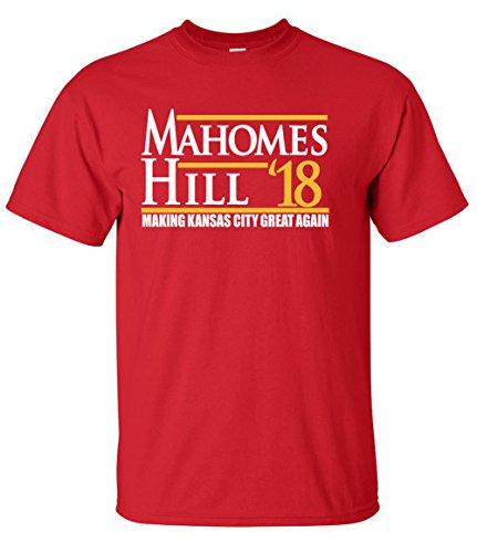 WB SHIRTS RED Kansas City Mahomes Hill 18