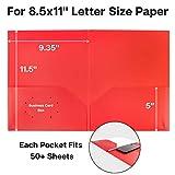 Dunwell Colored Pocket Folders, 2-Pocket File