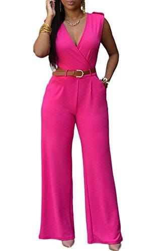 Mintsnow Women's Fashion Solid Color Chelsea Romper Pants Jumpsuit - Chelsea Jumpsuit