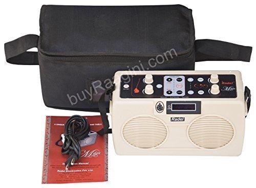 Electronic Tanpura/Tabla - RADEL Milan Digital Tabla Plus Tanpura, Digital Tabla and Tanpura Sound Machine, Tabla/Tanpura/Tambura Sampler, Instruction Manual, Bag, Power Cord (PDI-DIF)