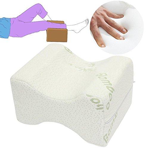 TRENTON Memory Foam Knee Leg Pillow Cushion Wedge Pressure Relief Sleep Aid Bed Spacer by TRENTON