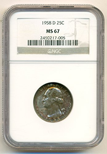 1958 D Washington Quarter MS67 NGC