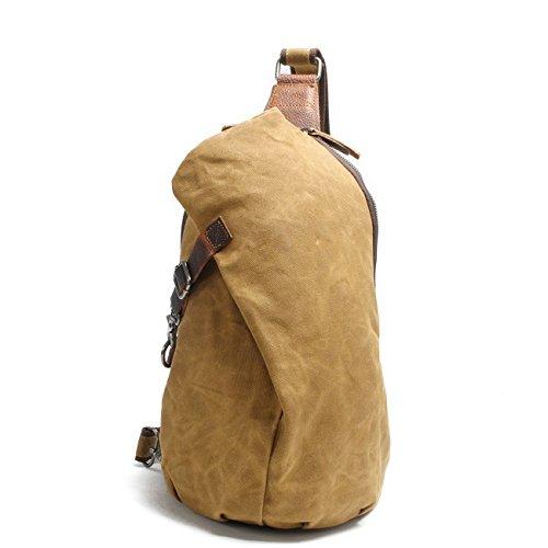 Aotian Waterproof Waxed Canvas Sling Backpacks Unisex